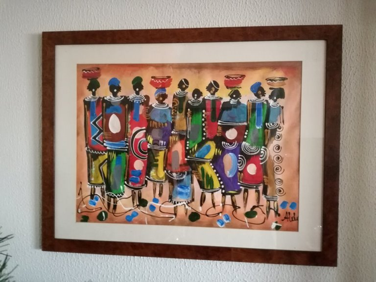 African Market painting